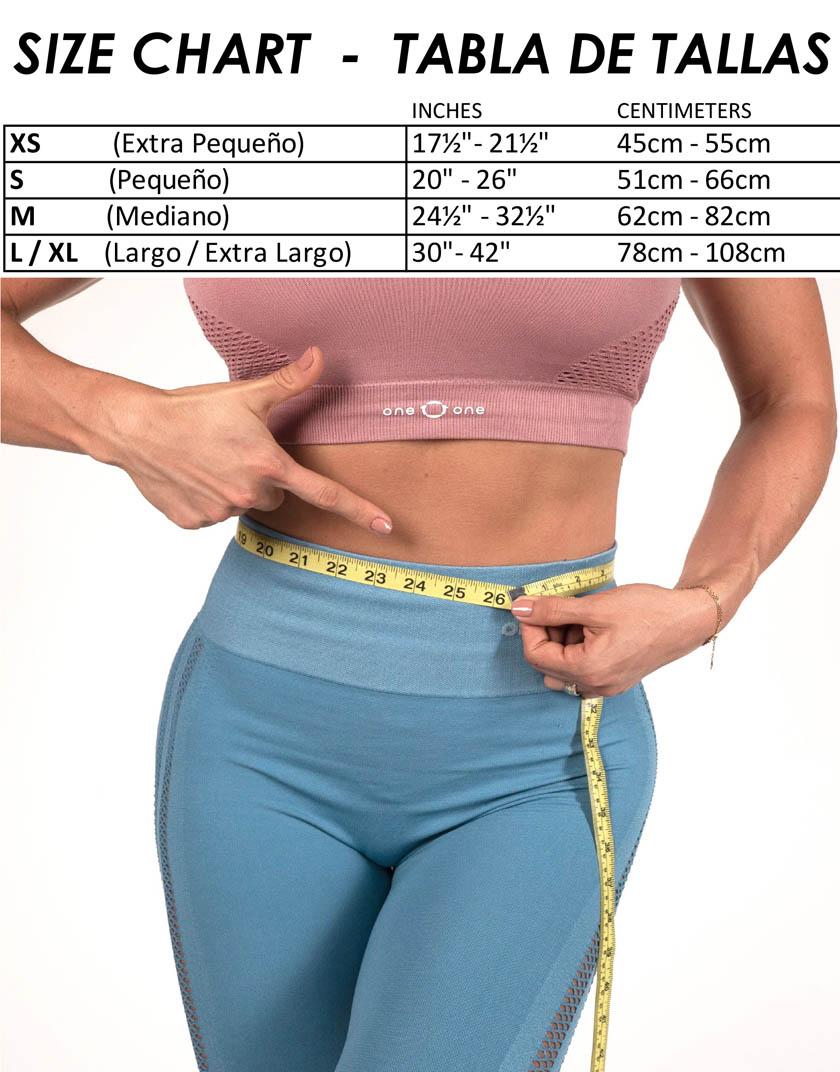 Size chart A102 A103 FAJA