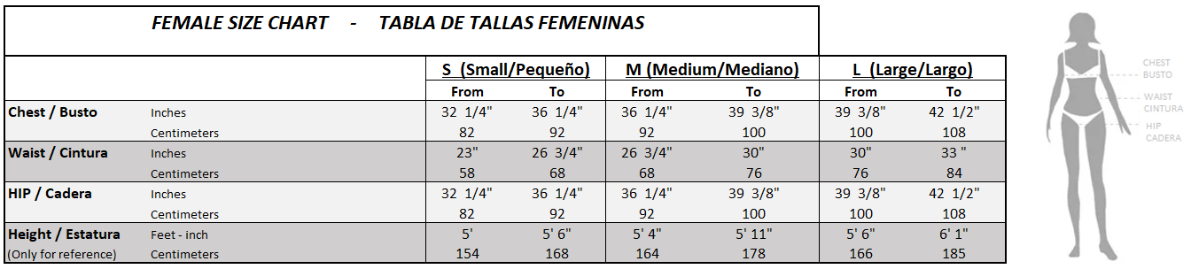 Female size chart-2
