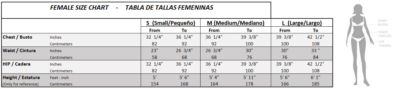 Female size chart-2