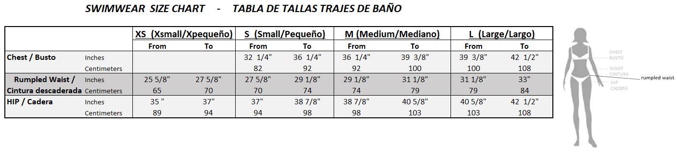 Swimwear size chart-2
